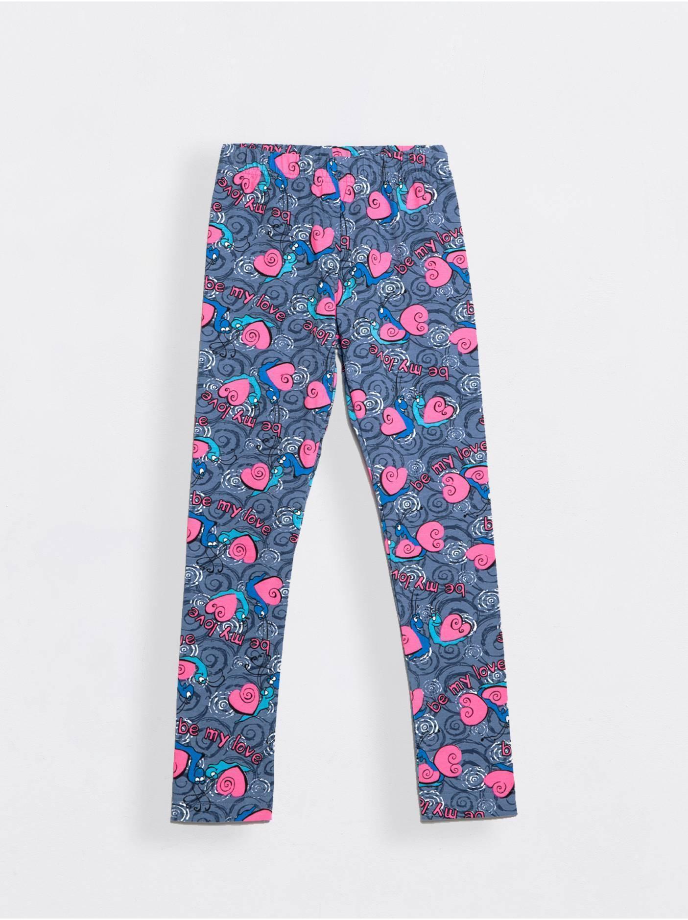 Леггинсы для девочек ⭐️ Леггинсы для девочек WENDY серо-голубые ⭐️