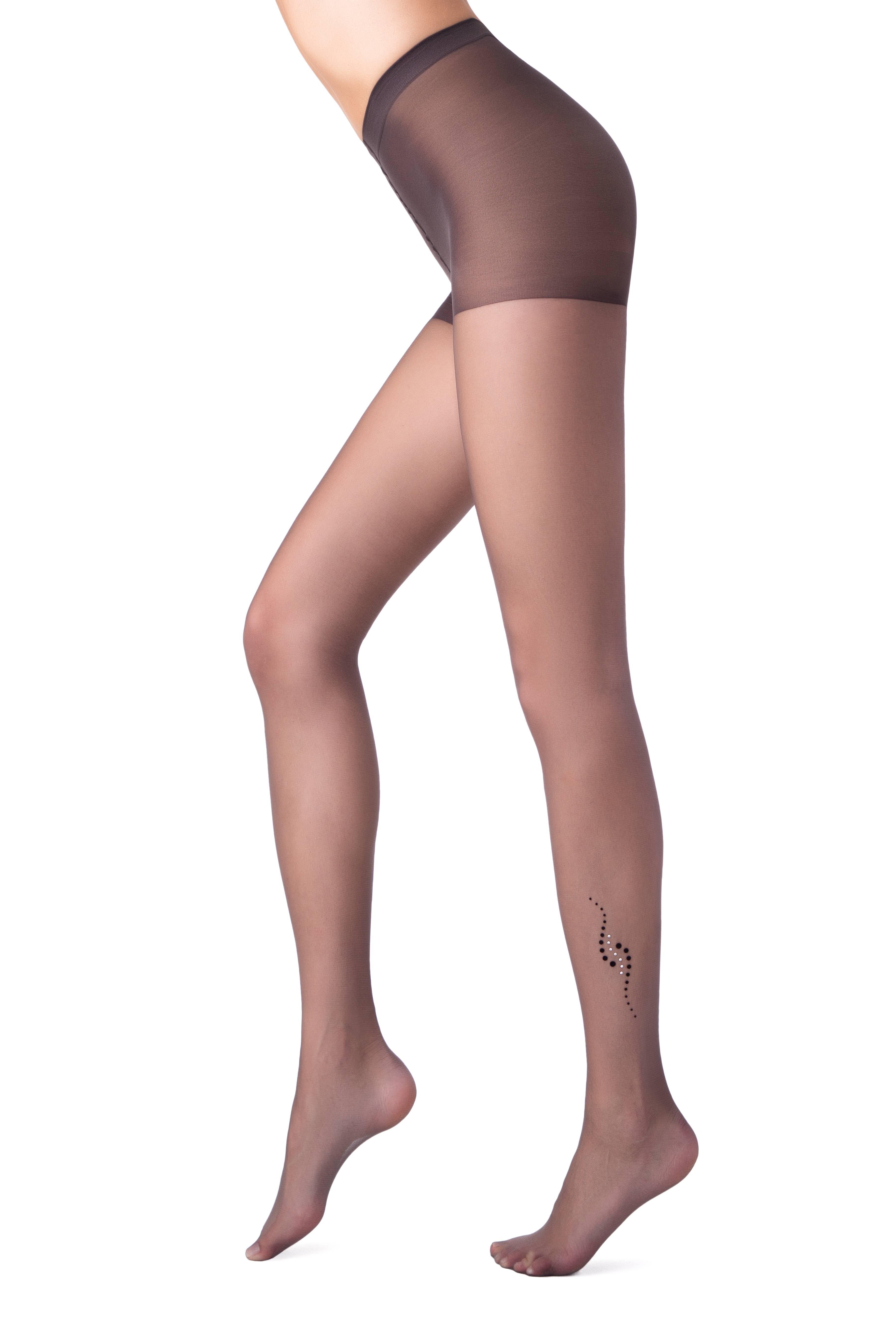 Колготки полиамидные женские ⭐️ Колготки с тату-рисунком и стразами SHAKE Lycra® ⭐️