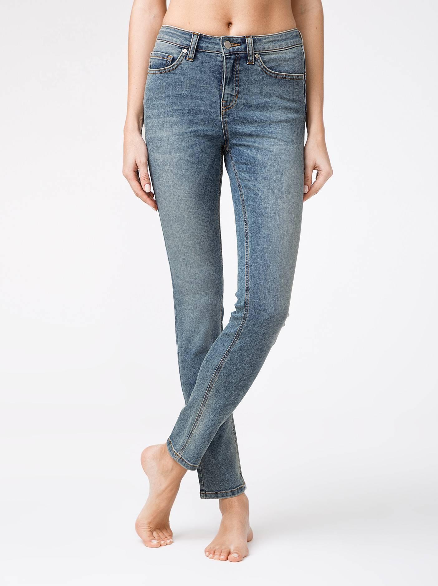Брюки джинсовые женские ⭐️ Моделирующие eco-friendly джинсы с высокой посадкой CON-146 ⭐️
