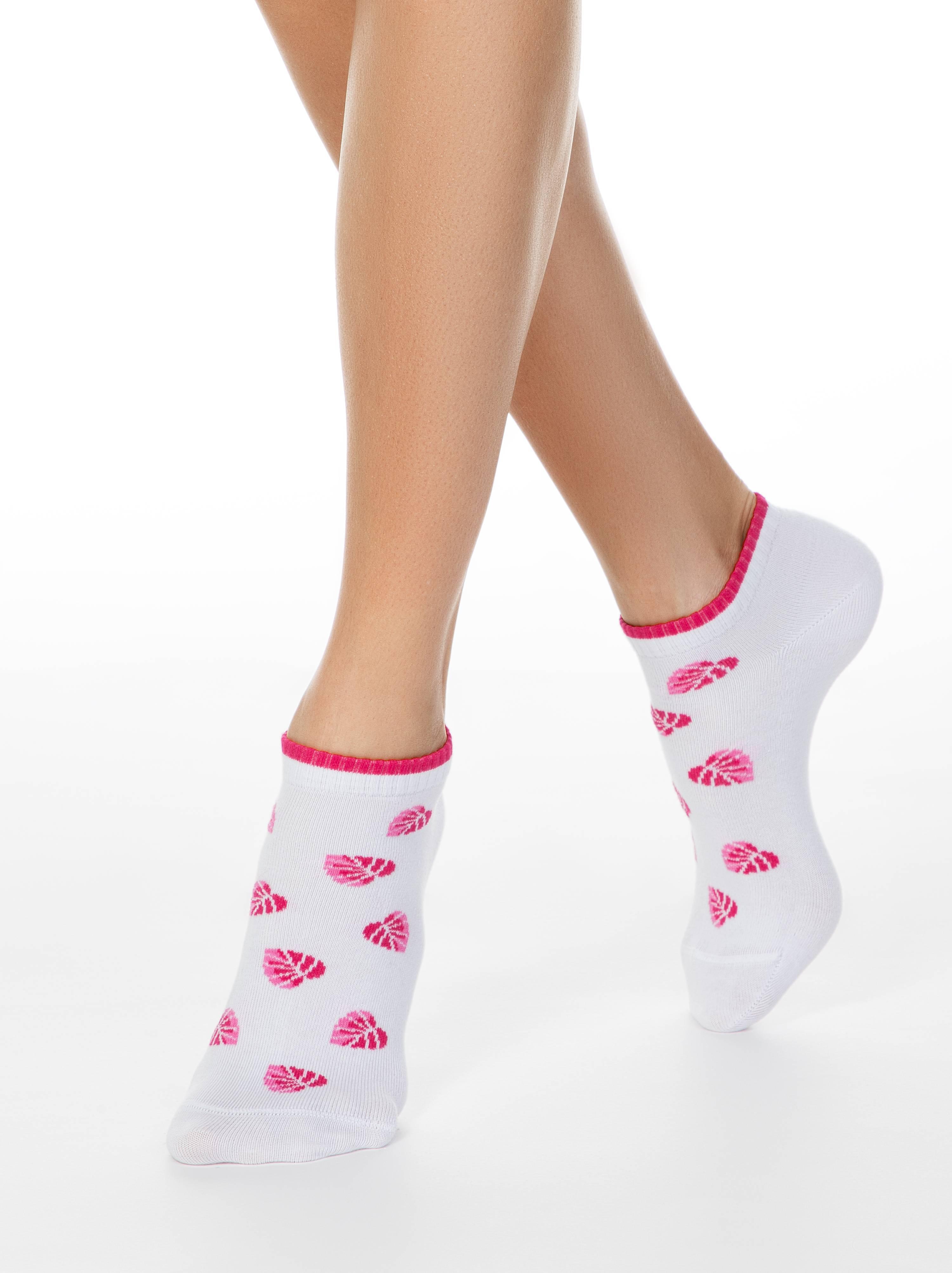 Фото - Носки женские ⭐️ Короткие хлопковые носки CLASSIC ⭐️ белого цвета