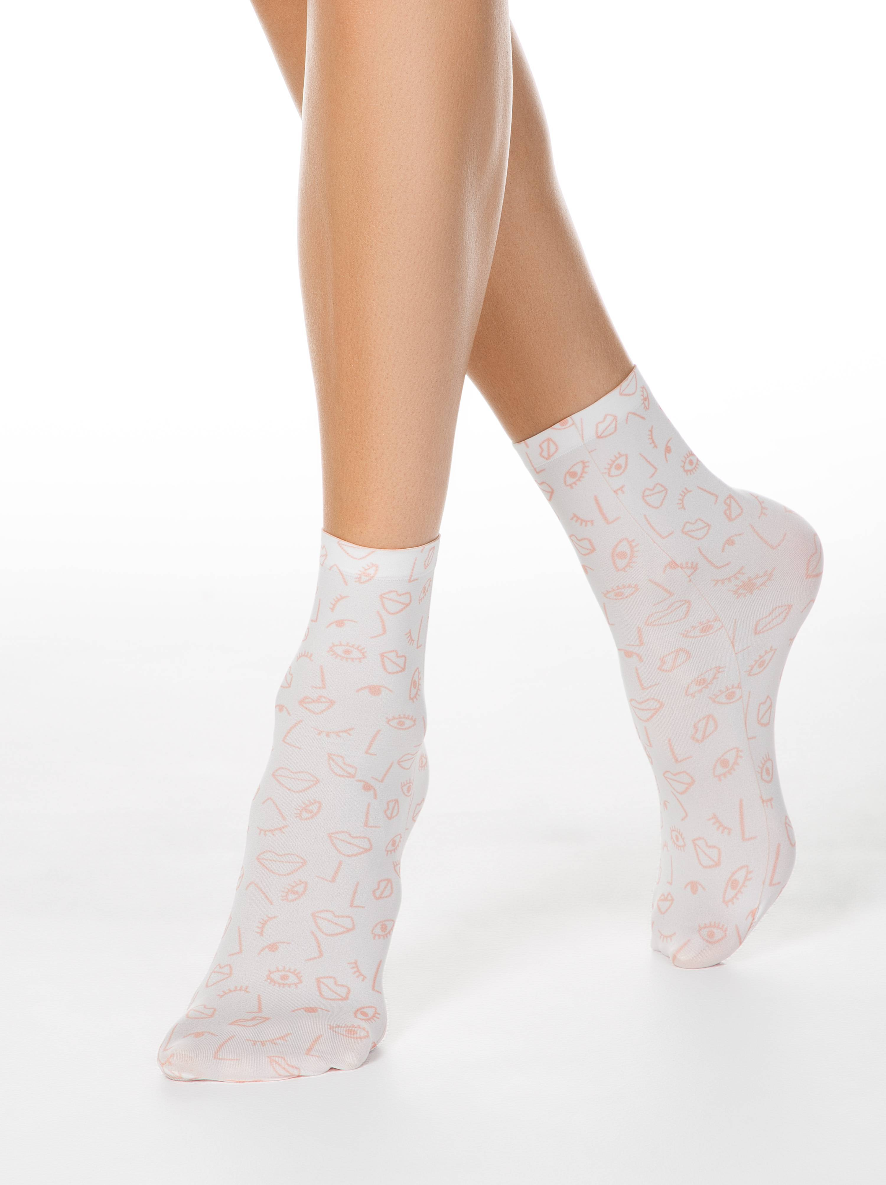 Фото - Носки женские ⭐️ Носки с принтом FANTASY 70 ⭐️ цвет mix