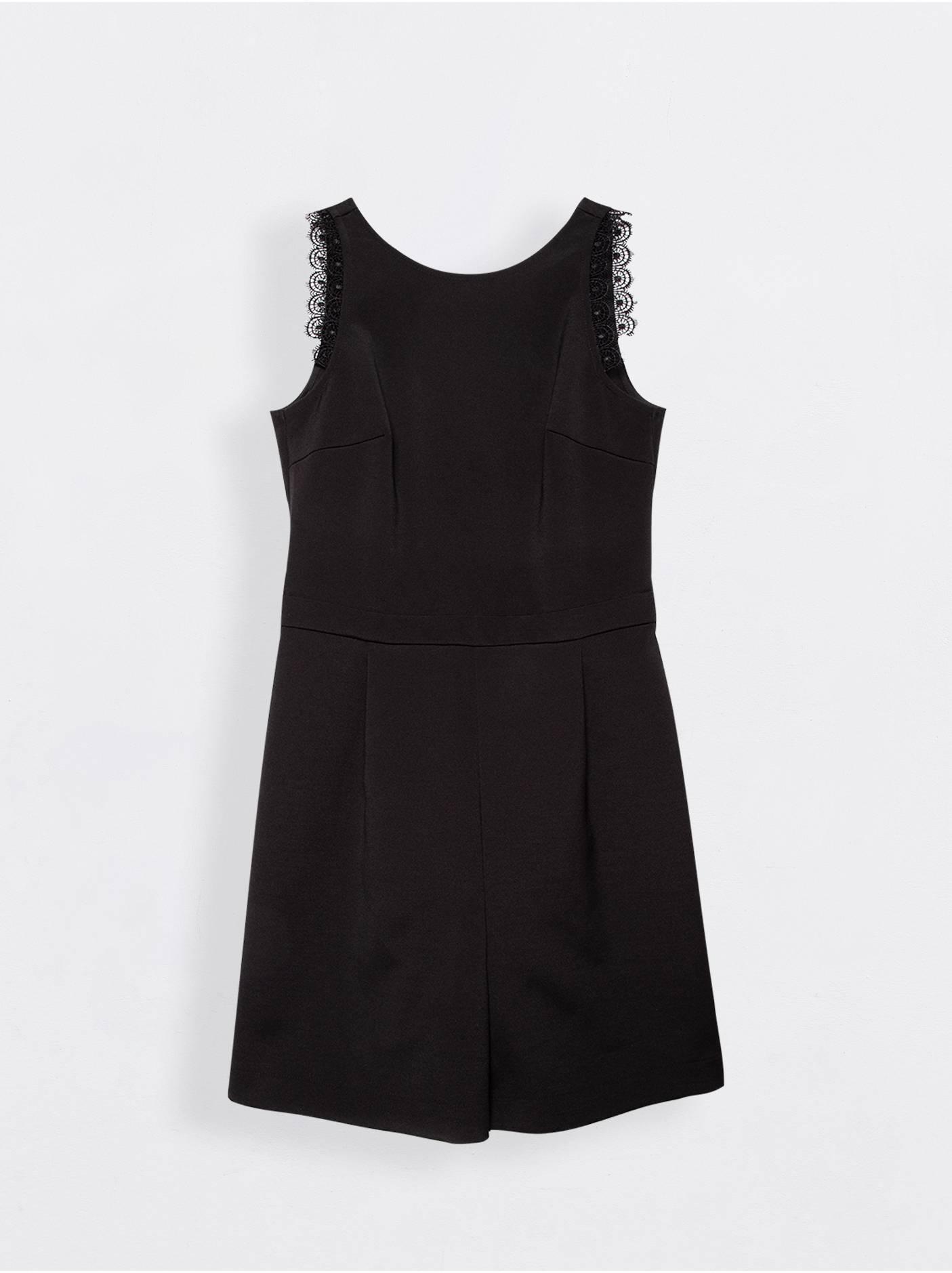 Полукомбинезон женский ⭐️ Черный полукомбинезон с открытыми плечами и кружевом GIGI ⭐️