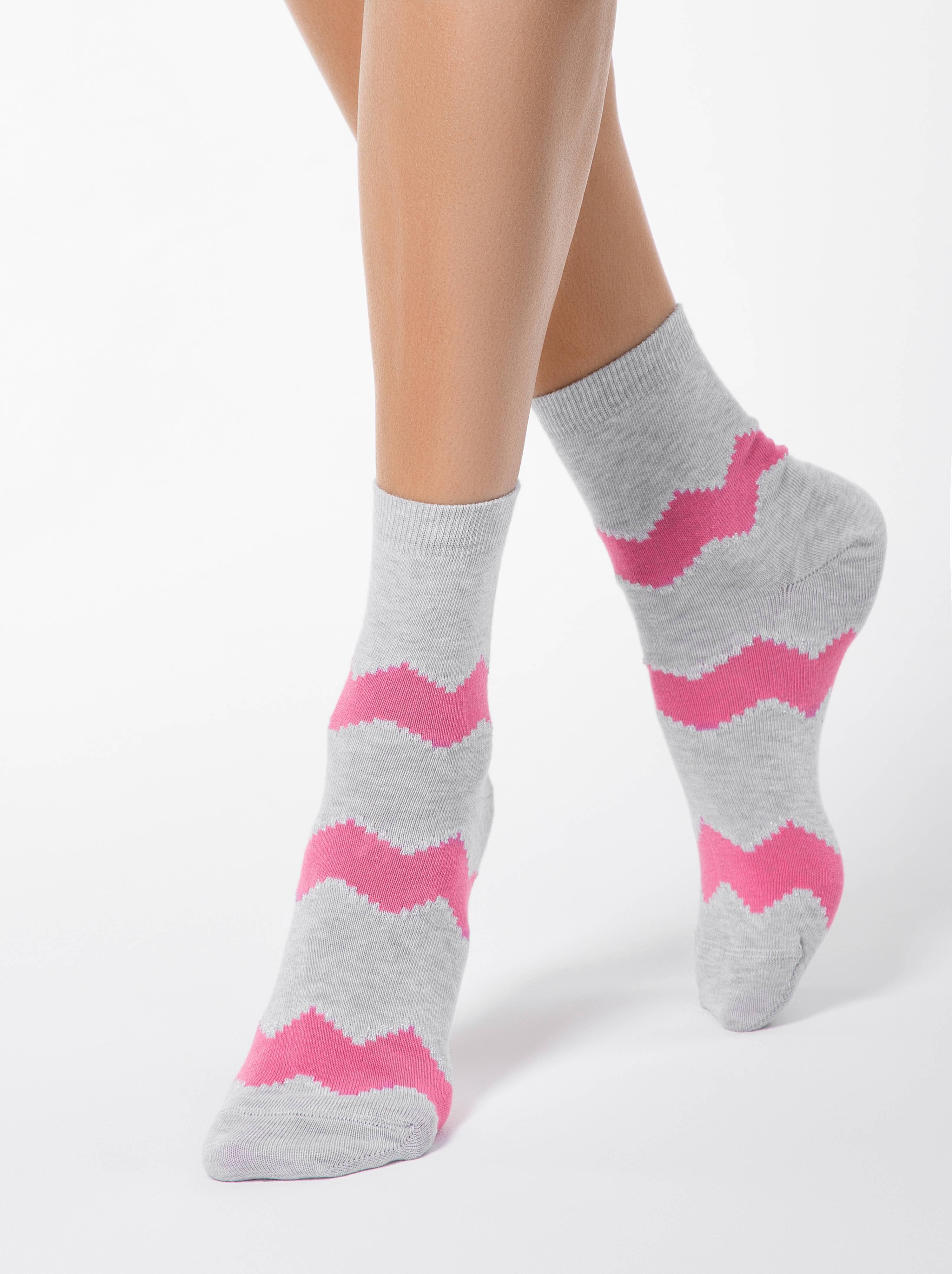 Носки хлопковые женские ⭐️ Хлопковые носки с люрексом CLASSIC ⭐️