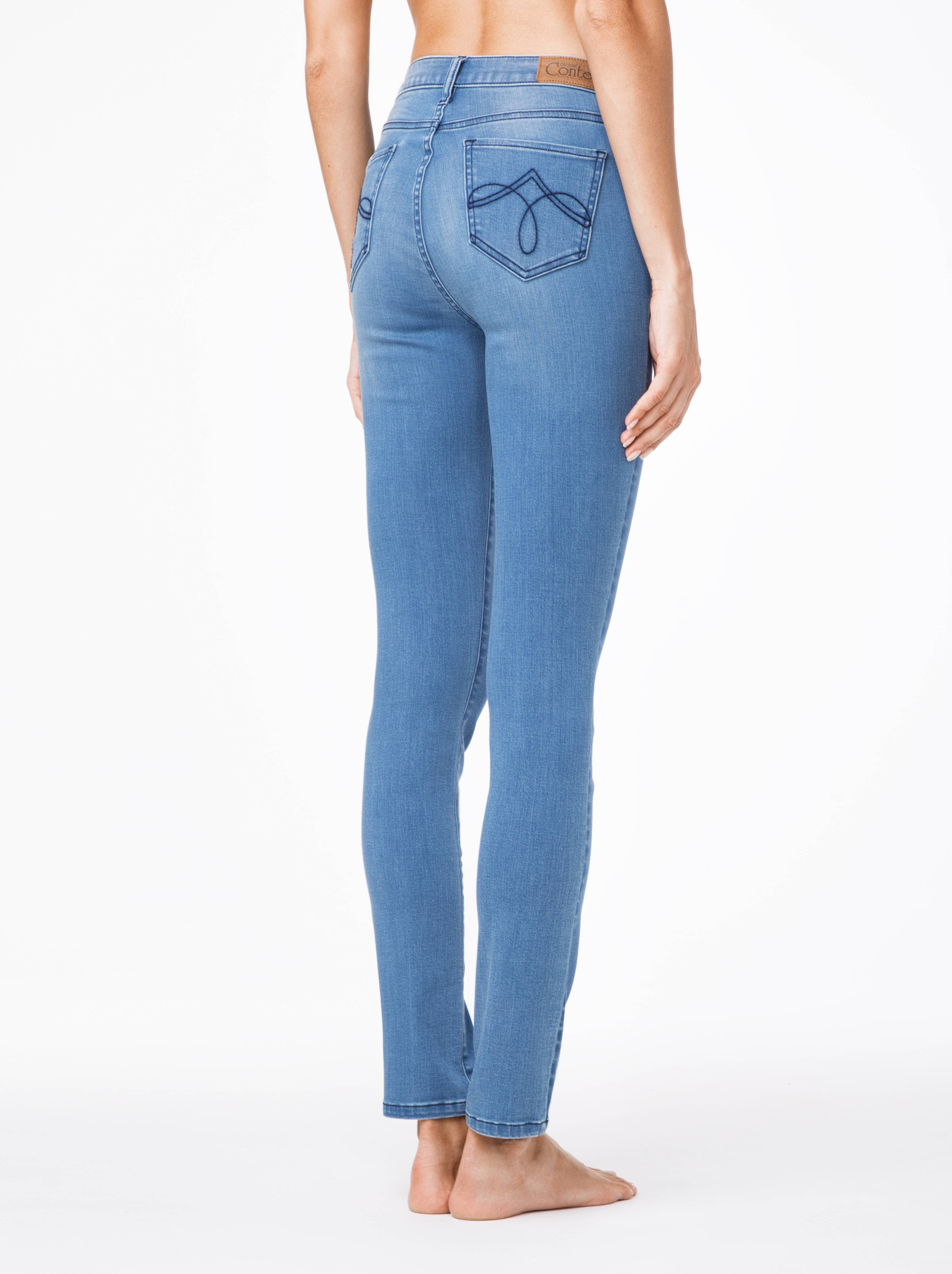 Фото 9 - Джинсы женские классические Conte темно-синего цвета