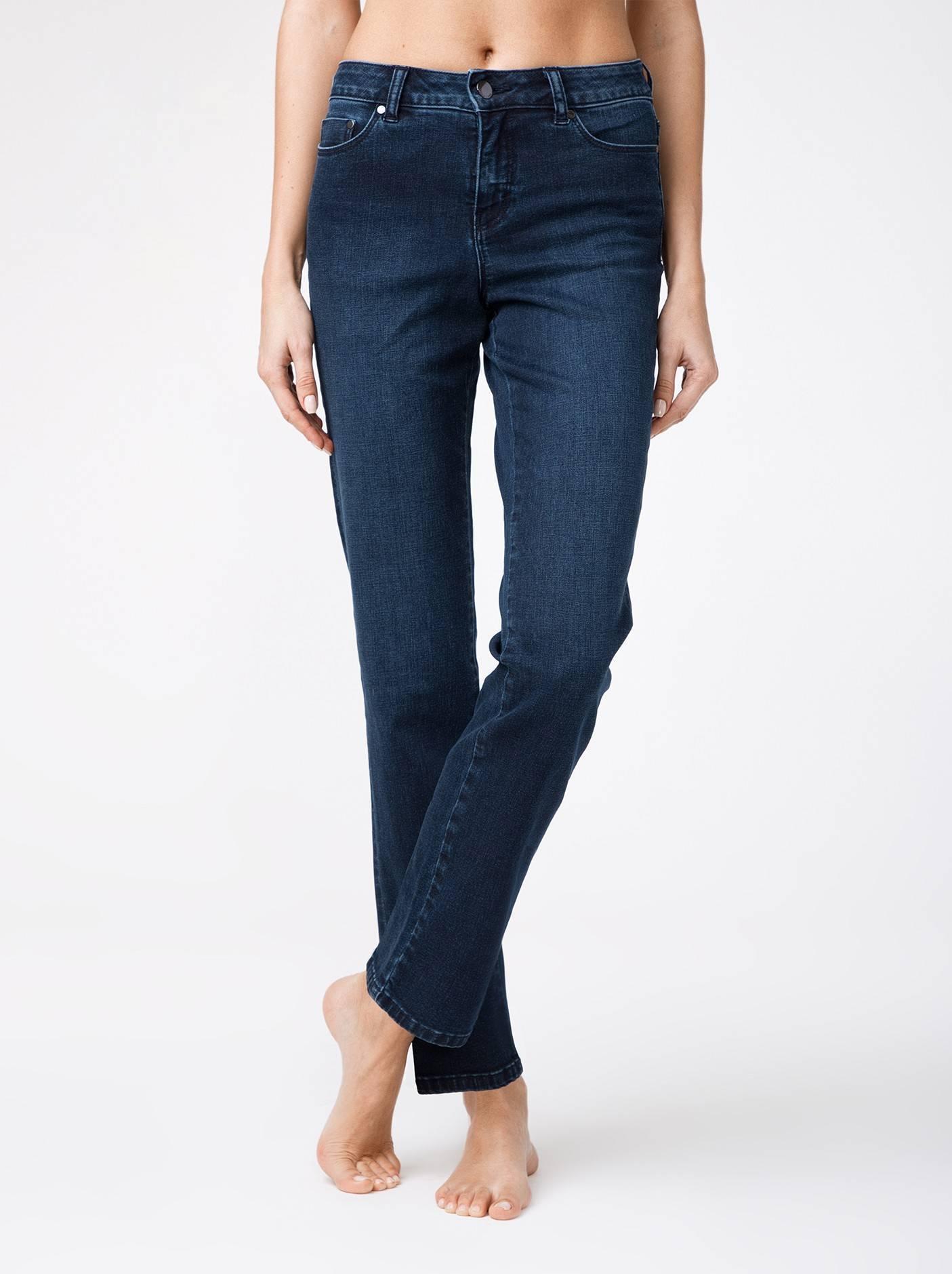 Брюки джинсовые женские ⭐️ Eco-friendly джинсы c эффектом «мгновенная коррекция живота» CON-136 ⭐️