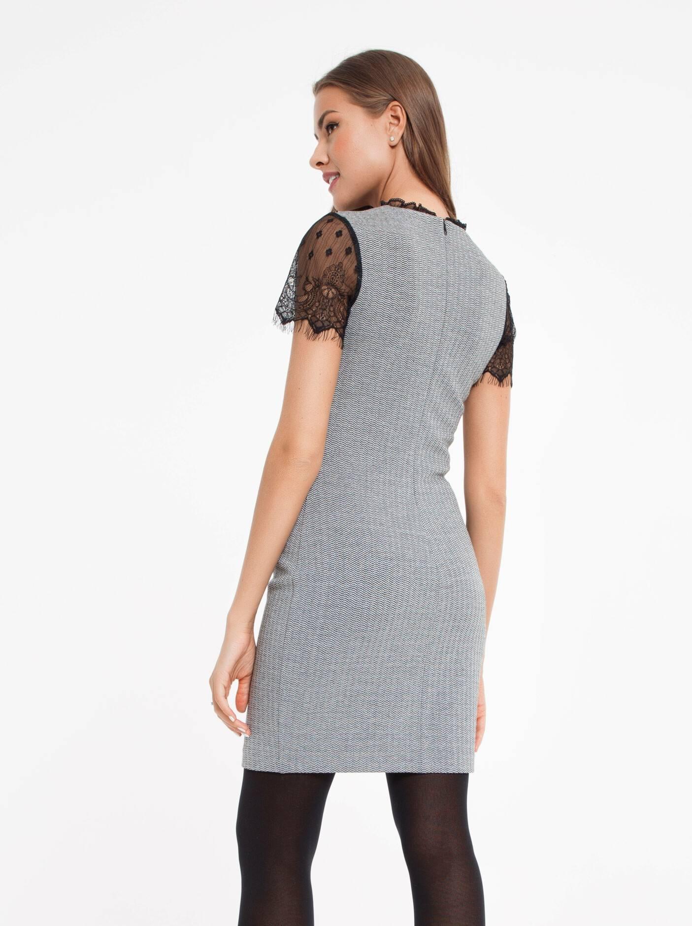 b040978c668a0b3 ... платье женское платье-футляр с металлическим блеском и рукавами из  кружева 849 18С-536ТСП ...