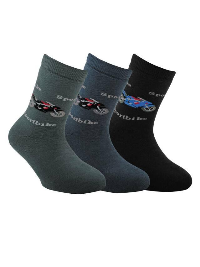 Носки хлопковые детские SOF-TIKI (махровые) 7С-46СП, p. 22, темно-серый, рис. 093 - 1