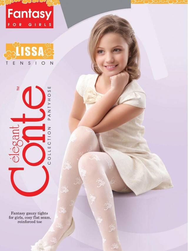 Колготки полиамидные детские LISSA 14С-8СП, p. 104-110, pink - 2