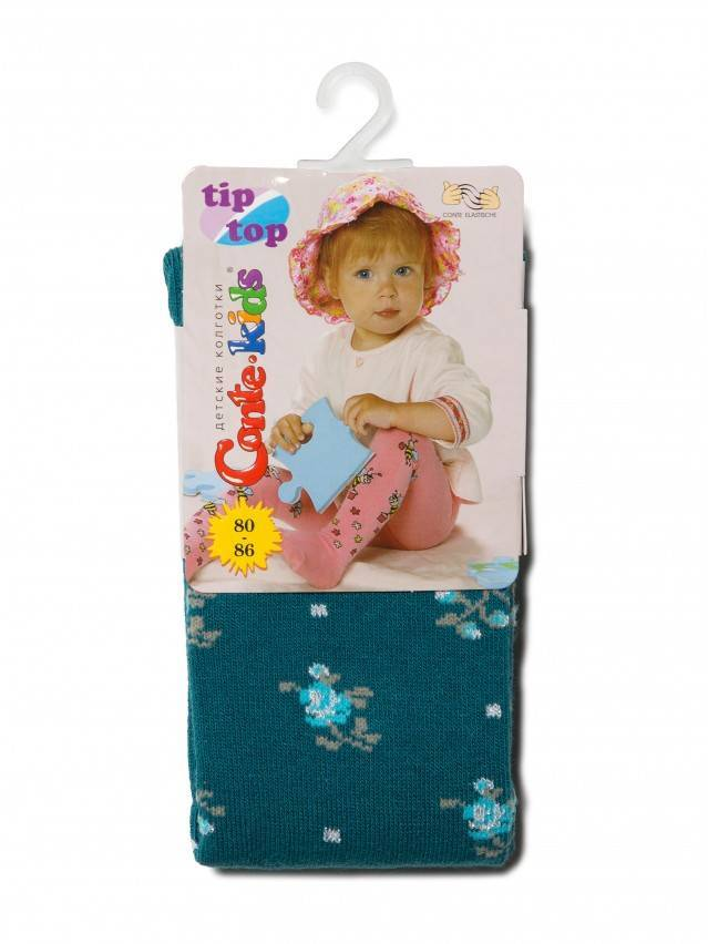 Колготки хлопковые детские TIP-TOP (люрекс) 7С-78СП, p. 80-86, темно-бирюзовый, рис. 258 - 2