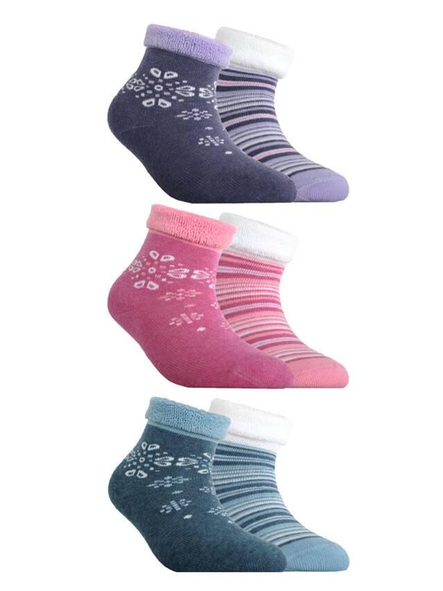 Носки хлопковые детские SOF-TIKI (махровые, 2 пары) 7С-92СП, p. 12, белый-розовый, рис. 703 - 1
