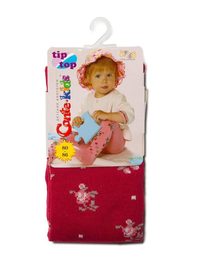 Колготки хлопковые детские TIP-TOP (люрекс) 7С-78СП, p. 80-86, бордо, рис. 258 - 2