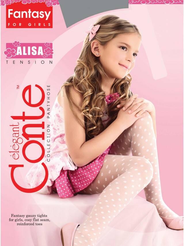 Колготки полиамидные детские ALISA 8С-101СП, p. 104-110, pink - 1