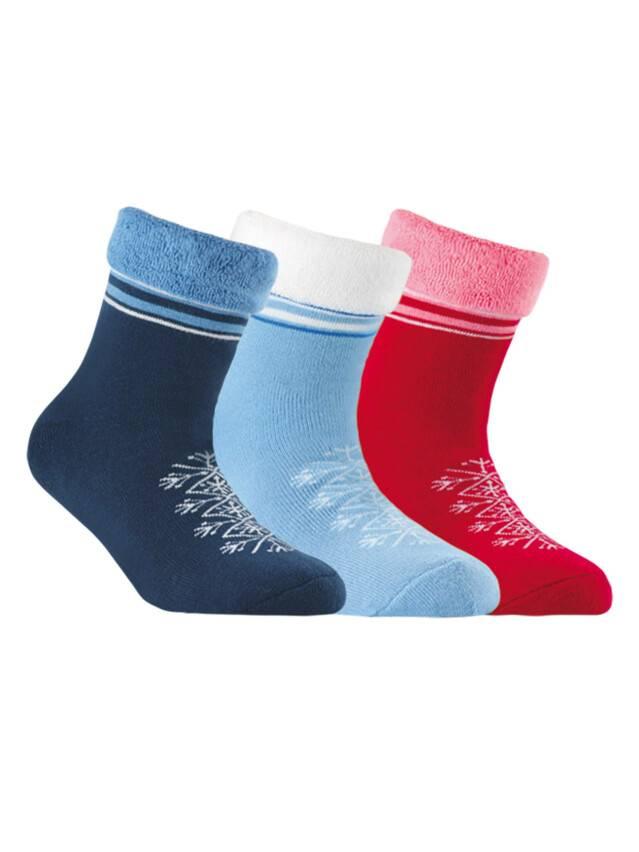 Носки хлопковые детские SOF-TIKI (махровые с отворотом) 6С-19СП, p. 20, голубой, рис. 045 - 1