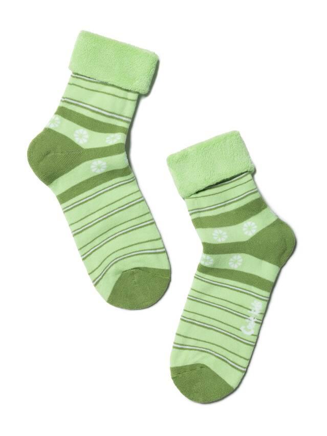 Носки хлопковые детские SOF-TIKI (махровые с отворотом) 6С-19СП, p. 22, светло-зеленый, рис. 043 - 1