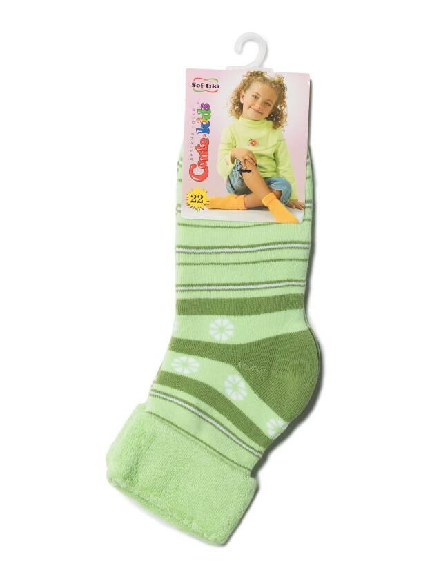Носки хлопковые детские SOF-TIKI (махровые с отворотом) 6С-19СП, p. 22, светло-зеленый, рис. 043 - 2