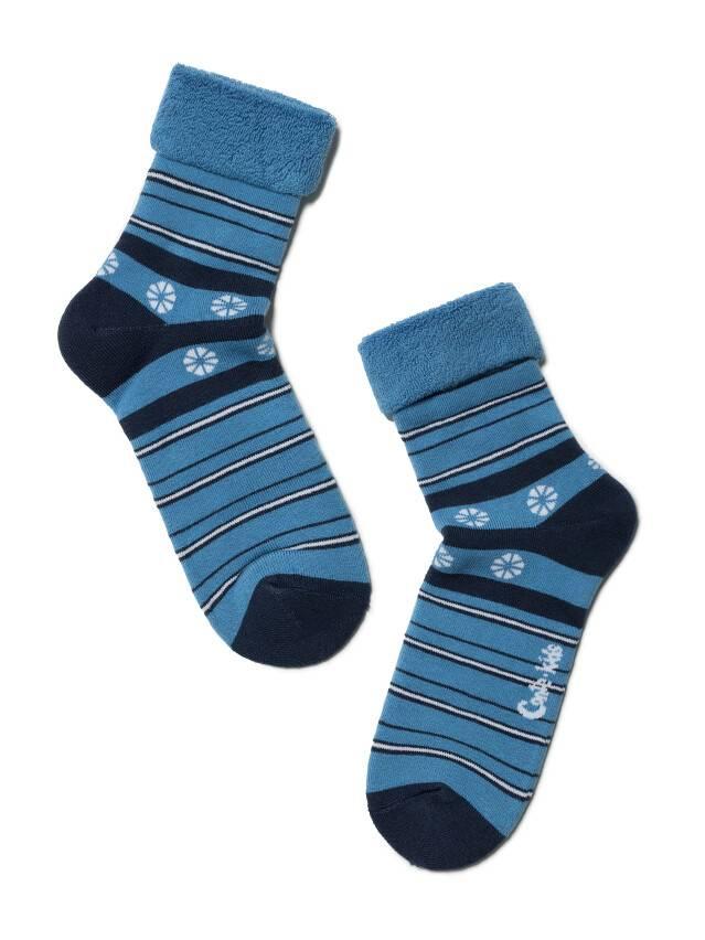 Носки хлопковые детские SOF-TIKI (махровые с отворотом) 6С-19СП, p. 22, голубой, рис. 043 - 1