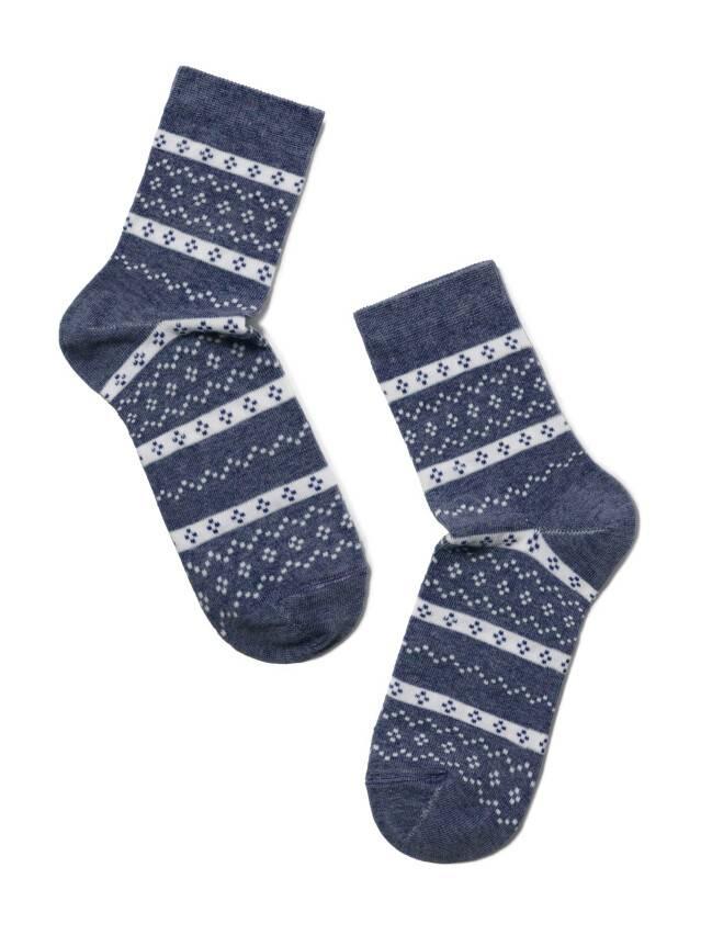 Носки хлопковые женские CLASSIC 15С-15СП, р. 36-37, темный джинс, рис. 062 - 2