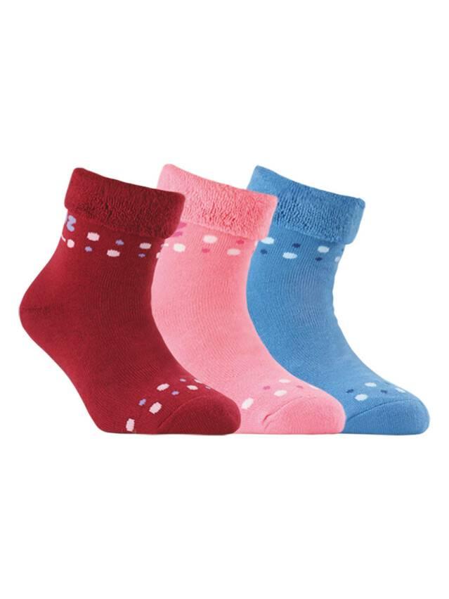 Носки хлопковые детские SOF-TIKI (махровые с отворотом) 6С-19СП, p. 18, светло-розовый, рис. 042 - 1