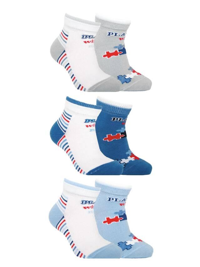 Носки хлопковые детские TIP-TOP (2 пары) 7С-91СП, p. 12, белый-джинс, рис. 702 - 1