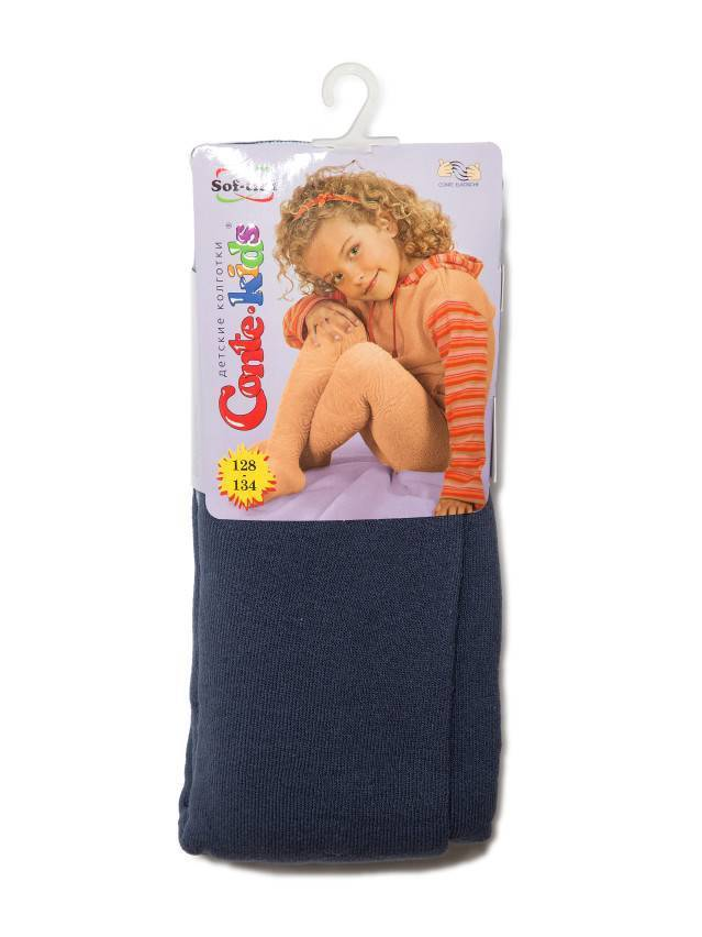 Колготки хлопковые детские SOF-TIKI (махровые внутри) 7С-38СП, p. 128-134, темный джинс, рис. 225 - 1