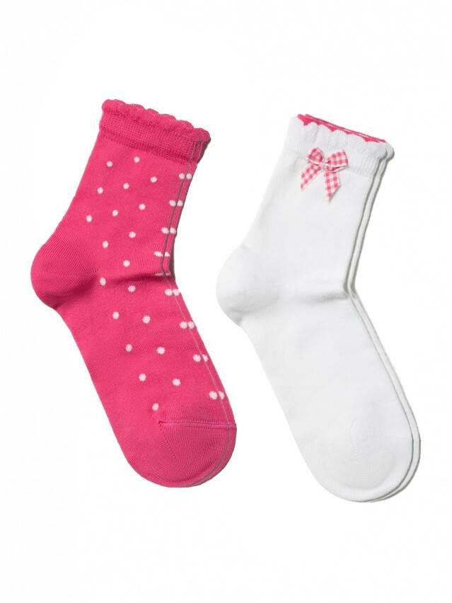 Носки хлопковые детские TIP-TOP (2 пары, пикот) 7С-90СП,7С-100СП, p. 12, белый-розовый, рис. 705 - 1