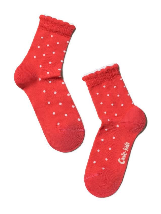 Носки хлопковые детские TIP-TOP (2 пары, пикот) 7С-90СП,7С-100СП, p. 12, белый-красный, рис. 705 - 3