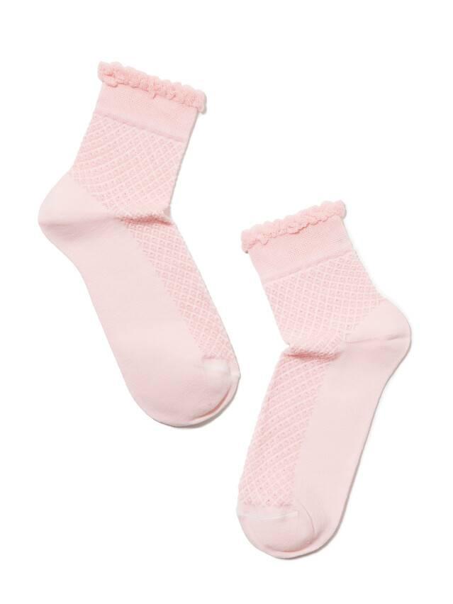 Носки хлопковые женские CLASSIC (тонкие, пикот) 15С-22СП, р. 36-37, светло-розовый, рис. 055 - 2
