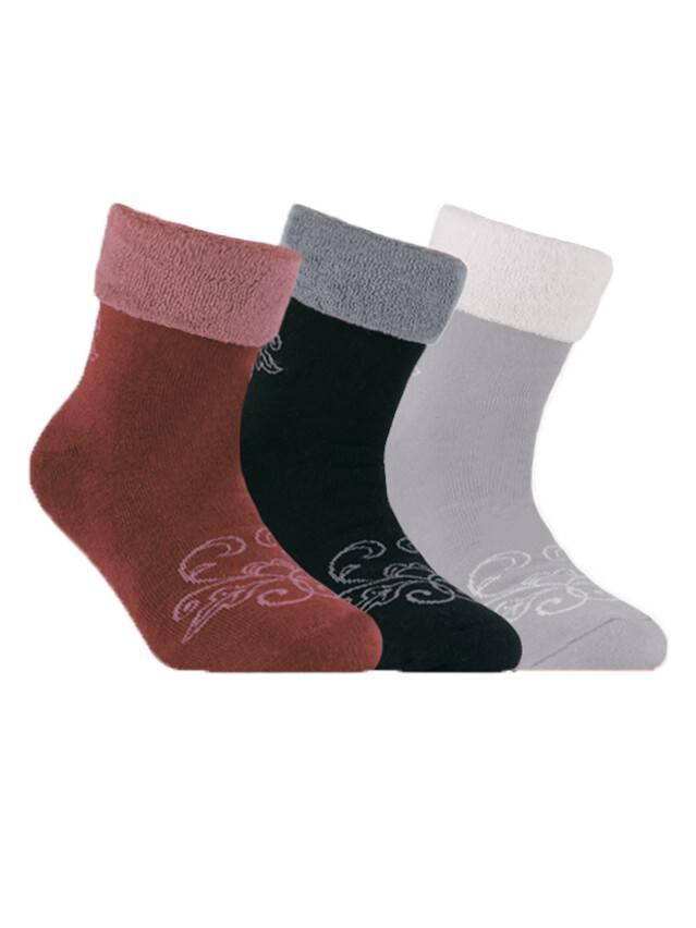 Носки хлопковые детские SOF-TIKI (махровые с отворотом) 6С-19СП, p. 22, серый, рис. 056 - 1