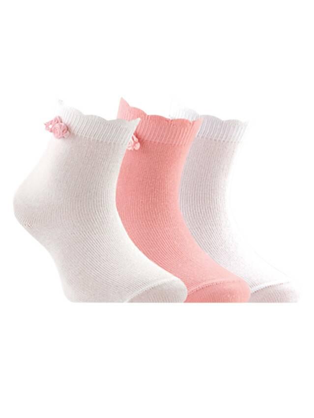 Носки хлопковые детские TIP-TOP (декор, цветочки) 7С-50СП, p. 12, белый, рис. 000 - 1