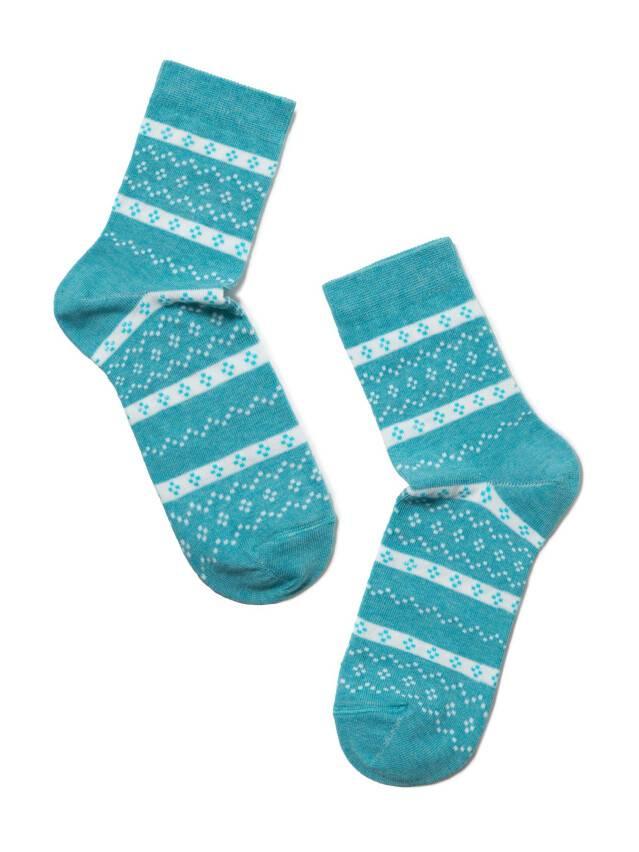 Носки хлопковые женские CLASSIC 15С-15СП, р. 36-37, бирюза, рис. 062 - 2
