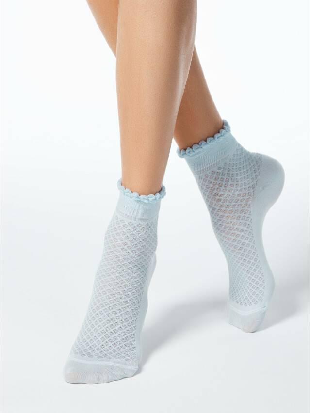 Носки хлопковые женские CLASSIC (тонкие, пикот) 15С-22СП, р. 36-37, бледно-бирюзовый, рис. 055 - 1