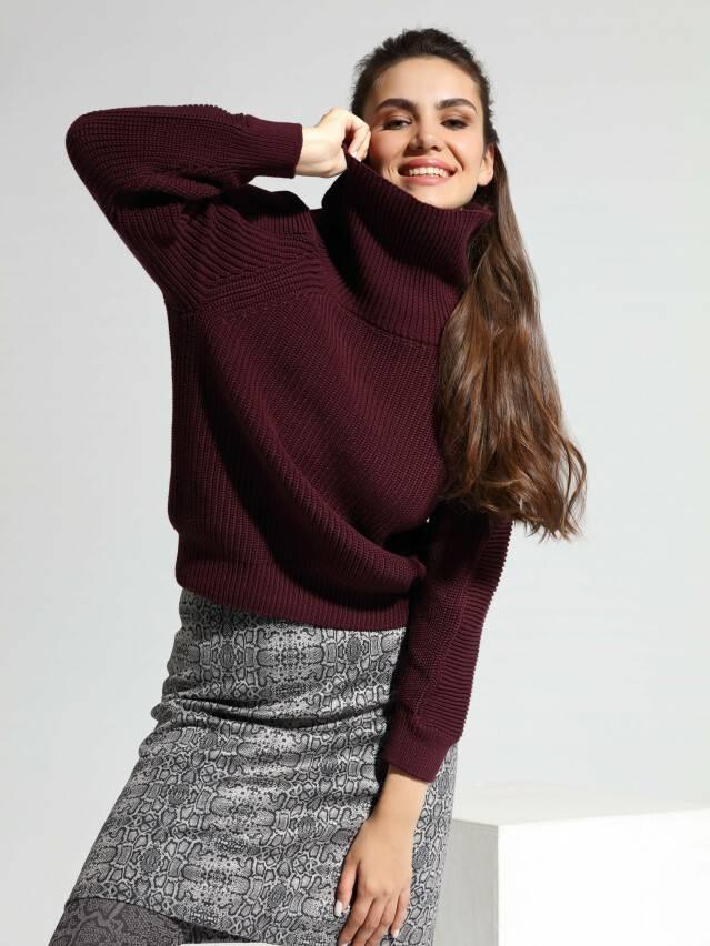 ᐅ Купить свитер фактурного вязания из итальянской пряжи с хлопком LDK 078 в Минске цвет port royal ?️ в интернет магазине с доставкой по Беларуси