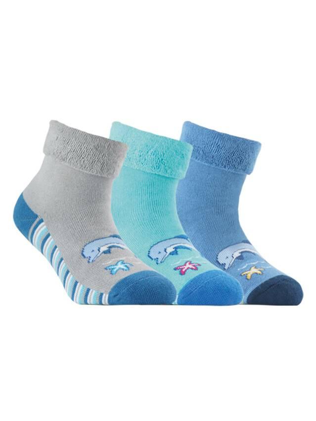 Носки хлопковые детские SOF-TIKI (махровые с отворотом) 6С-19СП, p. 16, серый, рис. 053 - 1