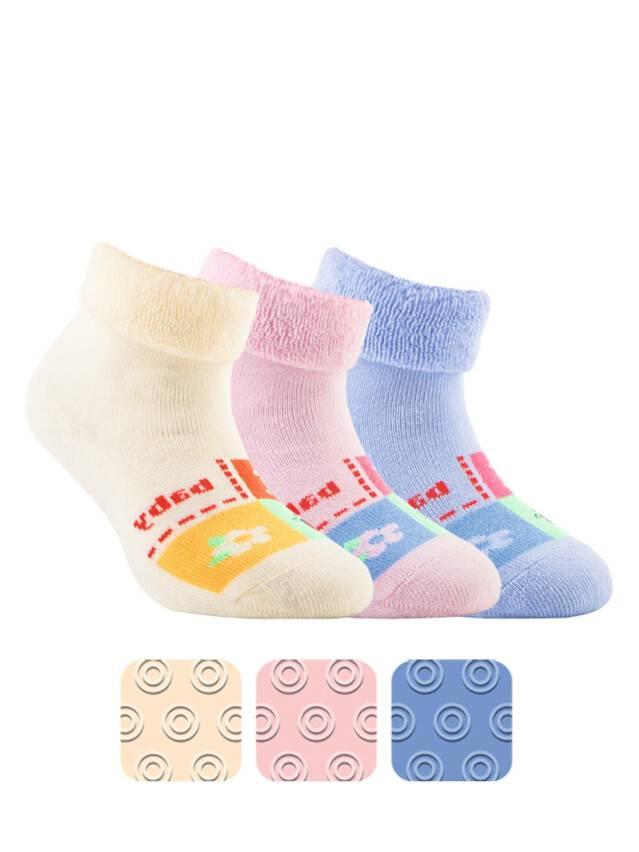 Носки хлопковые детские SOF-TIKI (махровые с отворотом, антискользящие) 7С-62СП, p. 12, кремовый, рис. 104 - 1