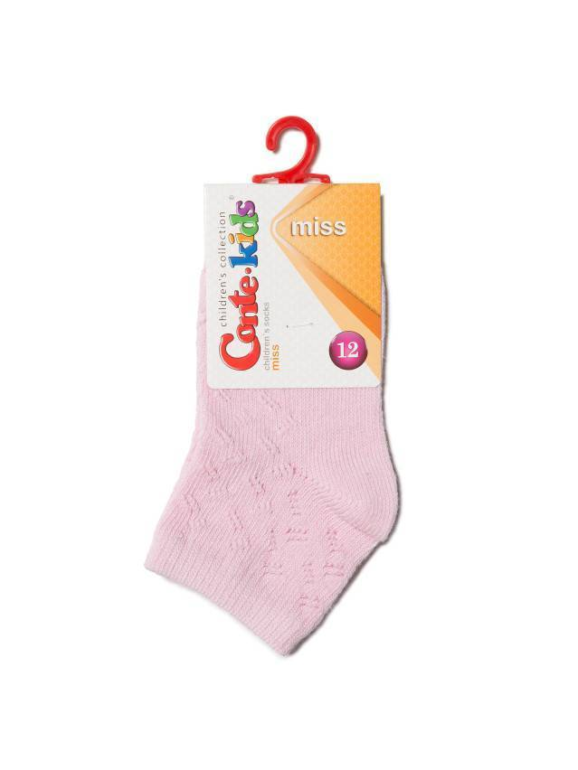 Носки хлопковые детские MISS (ажурные) 7С-76СП, p. 12, светло-розовый, рис. 113 - 2