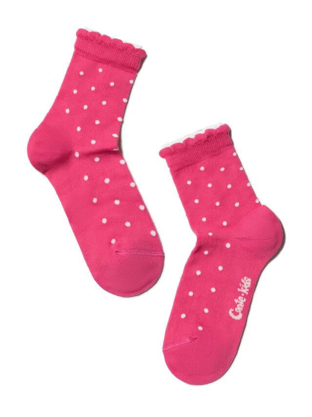 Носки хлопковые детские TIP-TOP (2 пары, пикот) 7С-90СП,7С-100СП, p. 12, белый-розовый, рис. 705 - 3