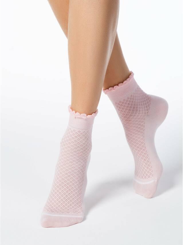 Носки хлопковые женские CLASSIC (тонкие, пикот) 15С-22СП, р. 36-37, светло-розовый, рис. 055 - 1