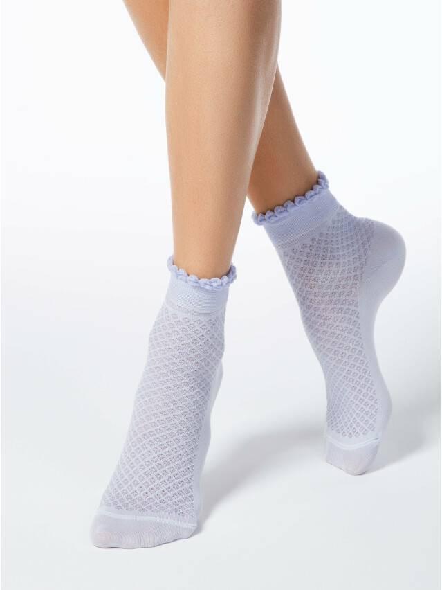 Носки хлопковые женские CLASSIC (тонкие, пикот) 15С-22СП, р. 36-37, бледно-фиолетовый, рис. 055 - 1