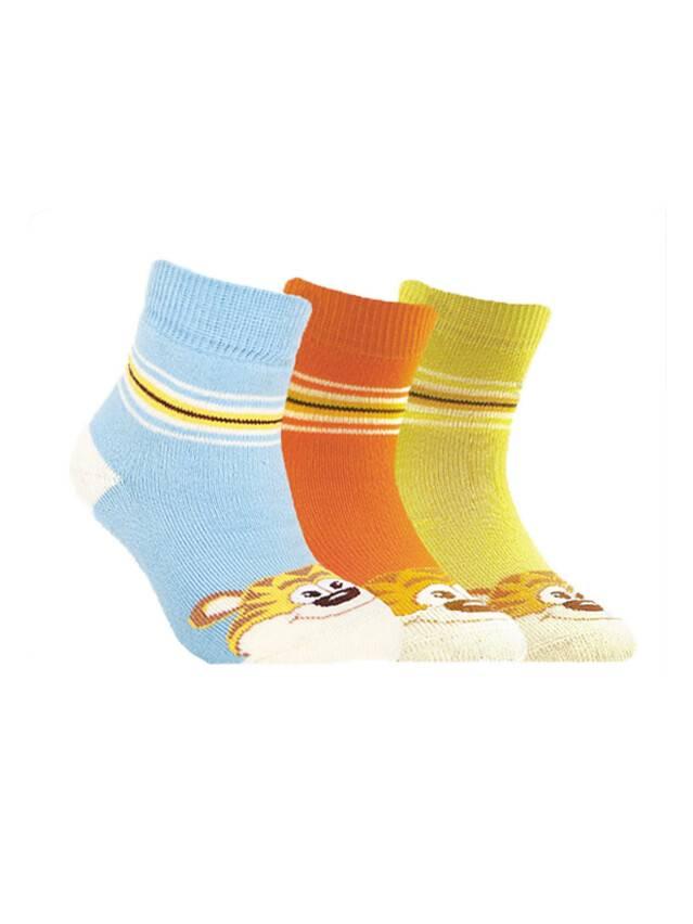 Носки хлопковые детские SOF-TIKI (махровые) 7С-46СП, p. 12, лимон, рис. 094 - 1