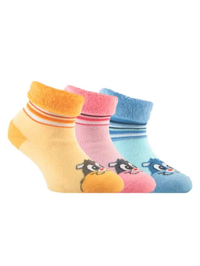 Носки хлопковые детские SOF-TIKI (махровые с отворотом) 6С-19СП, p. 14, светло-голубой, рис. 106 - 1