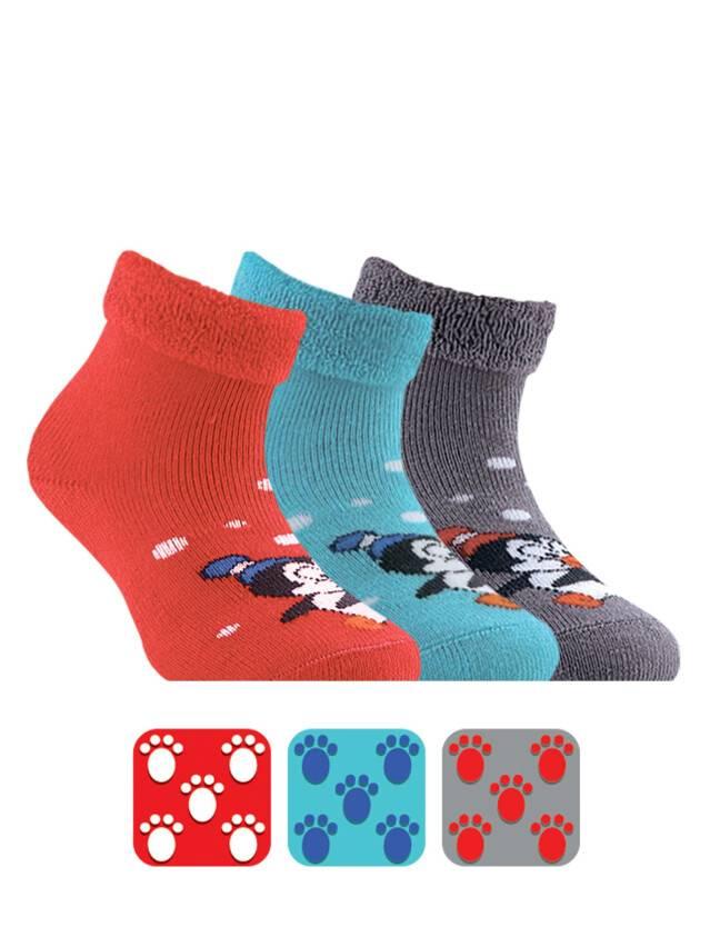 Носки хлопковые детские SOF-TIKI (махровые с отворотом, антискользящие) 7С-62СП, p. 12, красный, рис. 102 - 1