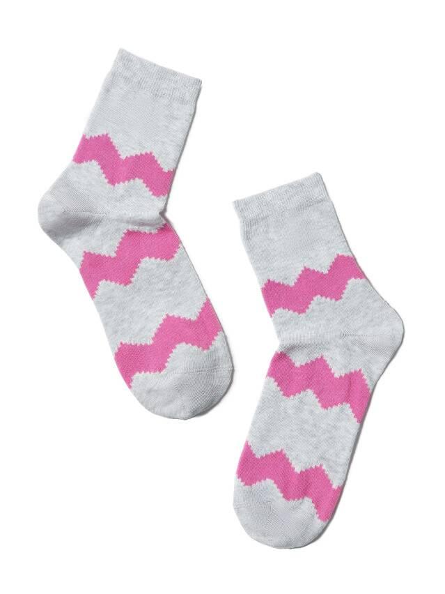 Носки хлопковые женские CLASSIC (люрекс) 15С-21СП, р. 36-37, серый-розовый, рис. 065 - 2