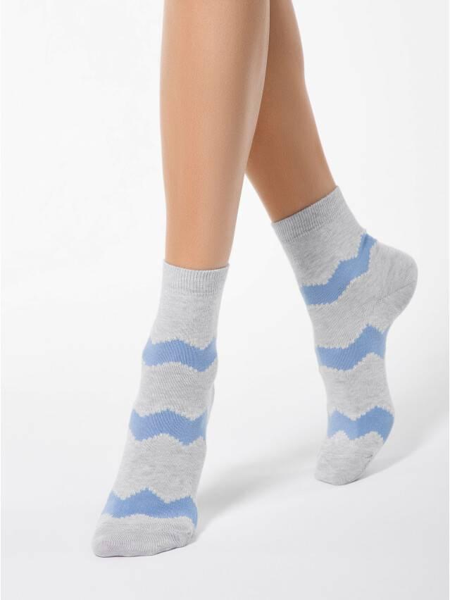 Носки хлопковые женские CLASSIC (люрекс) 15С-21СП, р. 36-37, серый-голубой, рис. 065 - 1