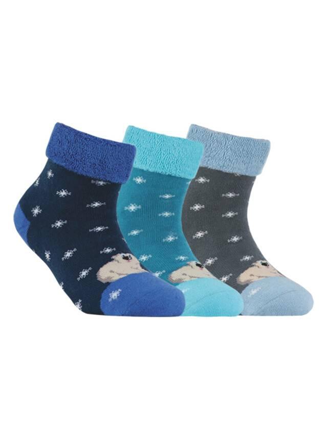 Носки хлопковые детские SOF-TIKI (махровые с отворотом) 6С-19СП, p. 16, темно-синий, рис. 060 - 1