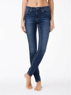 джинсы женские моделирующие моделирующие джинсы skinny со средней посадкой 4640/4915D 4640/4915D, размер 170-102, цвет синий