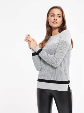 Джемпер женский Экстрамягкий фактурный джемпер с металлическим блеском 035 17С-169СП, размер 158,164-84, цвет серый