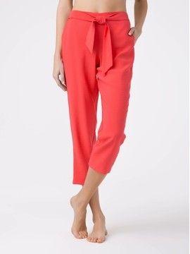 брюки укороченные женские укороченные брюки из вискозы премиального качества FIJI 18С-697ТСП, размер 164-100-106, цвет spicy coral