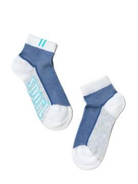 носки детские ACTIVE (короткие) 13С-34СП, размер 14, цвет белый-серый