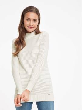 удлиненный свитер из итальянской пряжи с модалом 037 18С-52СП, размер 170-84, цвет пепельно-розовый