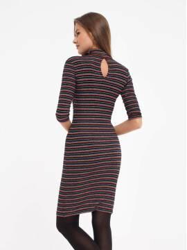 платье женское платье в полоску с мерцающим блеском 836-1 18С-511ТСП, размер 170-100-106, цвет nero